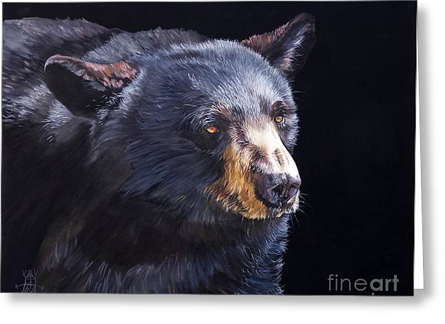Back In Black Bear Greeting Card by J W Baker