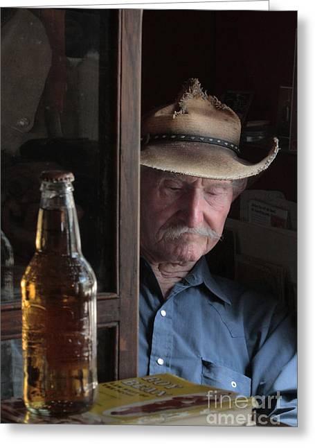 Glass Bottle Greeting Cards - Back In The Back Greeting Card by Joe Jake Pratt