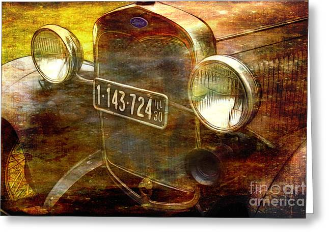 Rusted Cars Greeting Cards - Back in the Day Greeting Card by Judi Bagwell