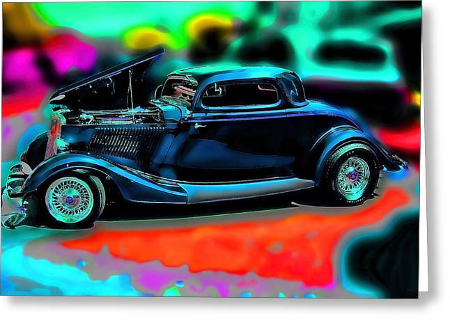 Collector Cars Greeting Cards - Back In The Day Vintage Car Art Greeting Card by Lesa Fine