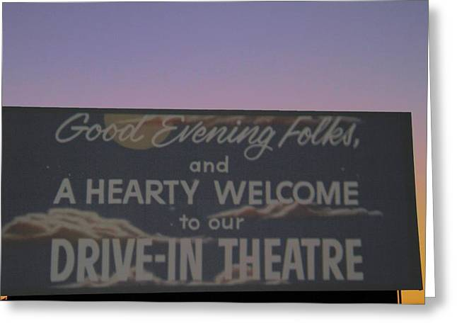 Drive In Theatre Greeting Cards - Back In Time Greeting Card by Dan Sproul