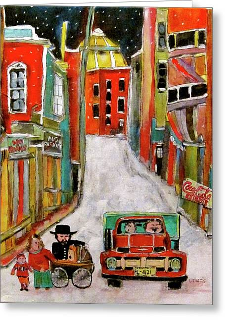Litvack Greeting Cards - Back Lane Cultures Greeting Card by Michael Litvack
