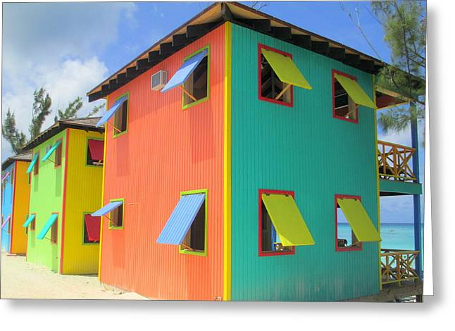 Caribbean Architecture Greeting Cards - Back Of Cabins 1 Greeting Card by Randall Weidner