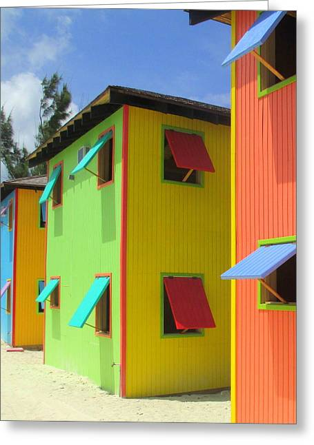 Caribbean Architecture Greeting Cards - Back Of Cabins 2 Greeting Card by Randall Weidner