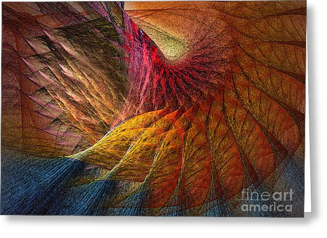 Back On Earth Abstract Art Print Greeting Card by Karin Kuhlmann