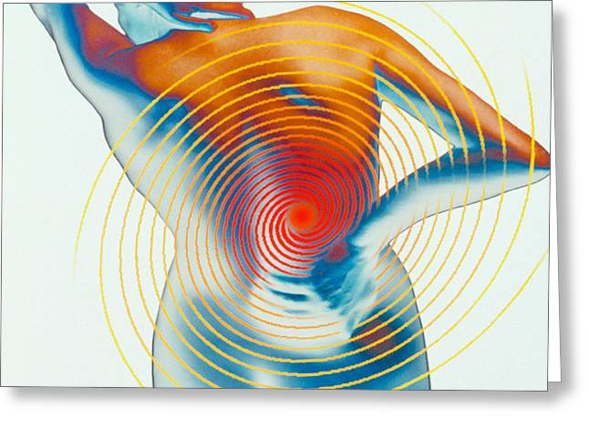 Pulsing Greeting Cards - Back Pain Greeting Card by Dennis D Potokar