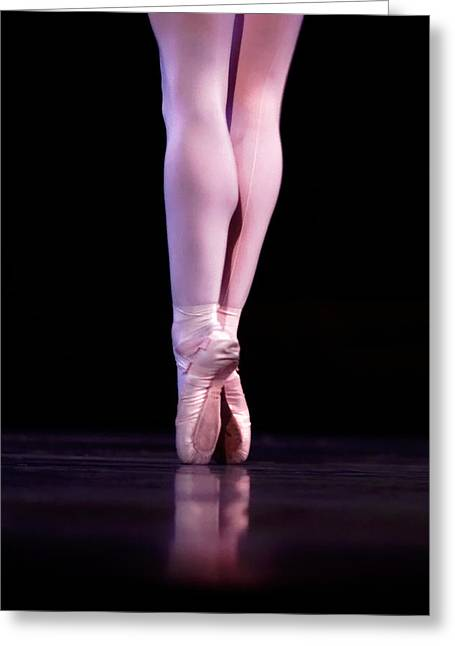 Ballet Dancers Photographs Greeting Cards - Back Pointe Greeting Card by Lone  Dakota Photography