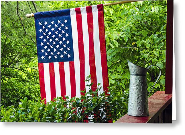 Back Porch Americana Greeting Card by Carolyn Marshall