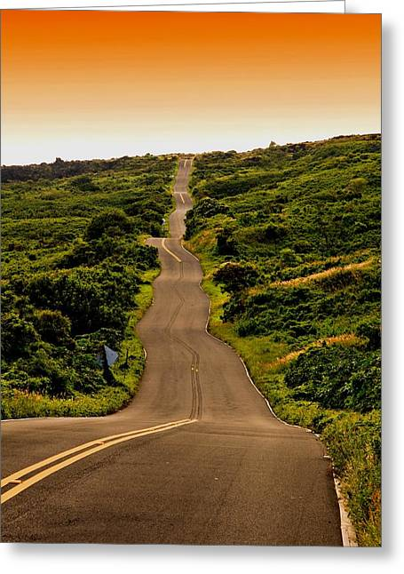 Paradise Road Greeting Cards - Back Road From Hana Greeting Card by DJ Florek