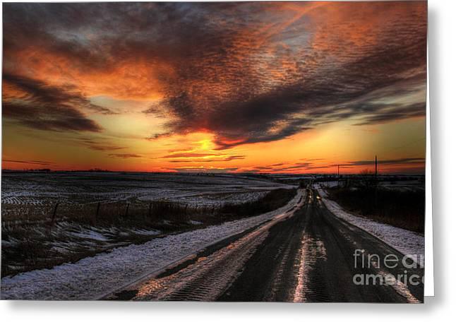 Back Road Greeting Cards - Back Road  Greeting Card by Thomas Danilovich