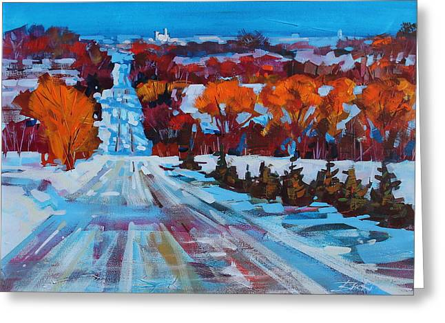 Collingwood Greeting Cards - Back Road to Collingwood Greeting Card by Brian Buckrell
