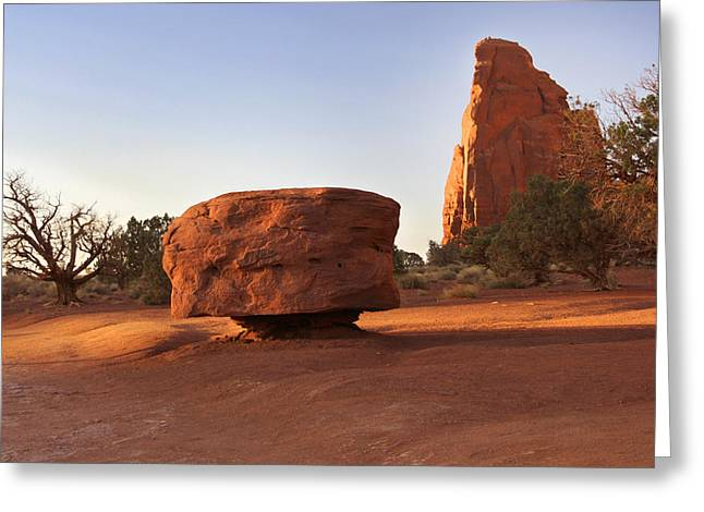 Navajo Tribal Park Greeting Cards - Back Roads at Monument Valley Greeting Card by Mike McGlothlen