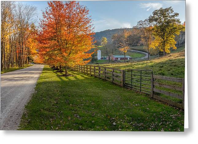 Old Country Roads Greeting Cards - Back Roads Greeting Card by Bill  Wakeley