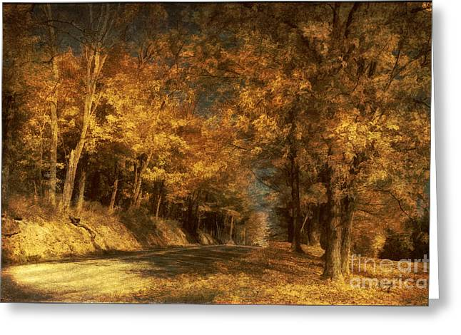 Back Roads Digital Art Greeting Cards - Back Roads Greeting Card by Lois Bryan