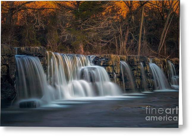 Natural Dam Arkansas Greeting Cards - Back to Natural Dam Greeting Card by Larry McMahon