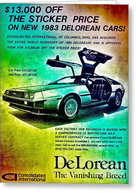 Dmc-12 Greeting Cards - Back to the DeLorean Greeting Card by Helge