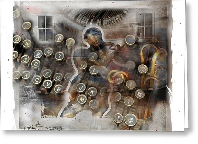 Typewriter Keys Digital Greeting Cards - Back To The Future Greeting Card by Bob Salo