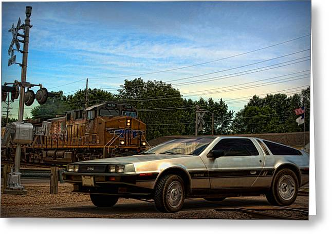 Delorean Greeting Cards - Back to the Future Greeting Card by Tim McCullough