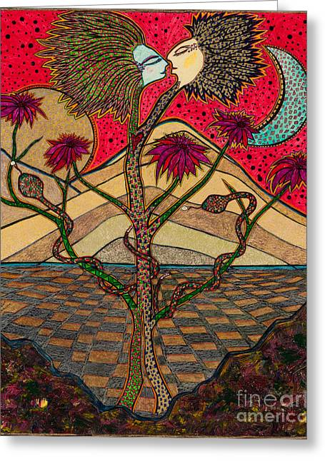 Desert Psychological Greeting Cards - Back to the Garden Greeting Card by James Hammons Art