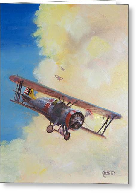 Naval Aviation Greeting Cards - Back to the Lexington Greeting Card by Christopher Jenkins