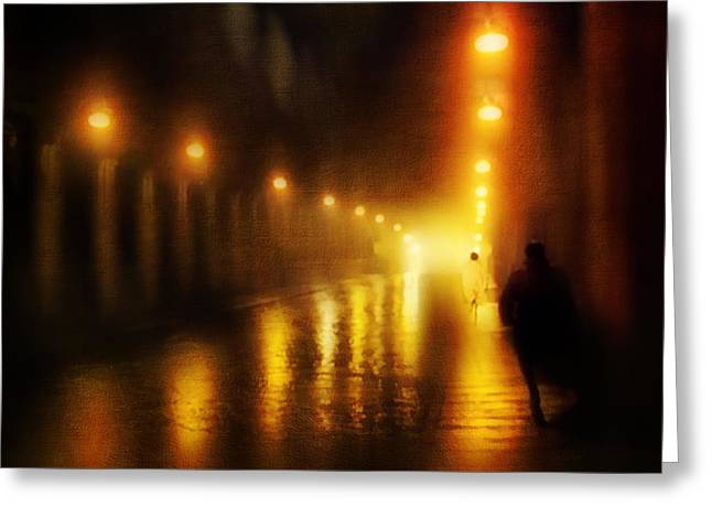 Mystic Art Greeting Cards - Back to the Past. Alley of Light Greeting Card by Jenny Rainbow