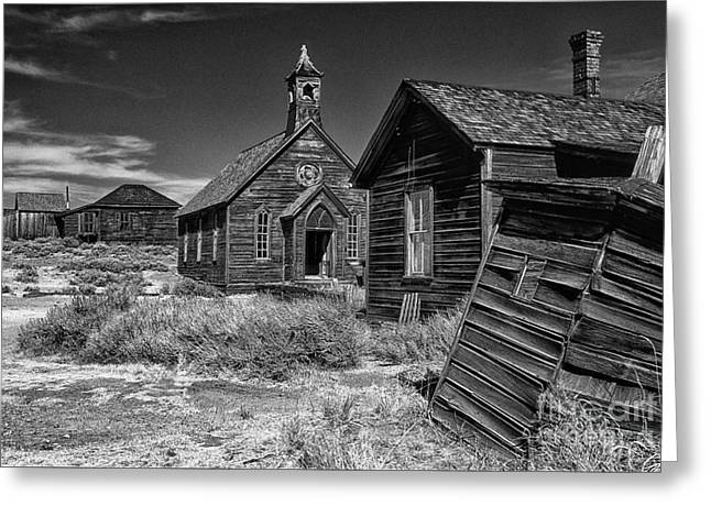 Bodie Out House Greeting Cards - Back To The Past Greeting Card by Sandra Bronstein