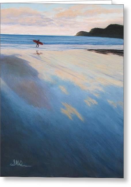 Sandy Beaches Pastels Greeting Cards - Back Tomorrow  Greeting Card by Serena Dawson