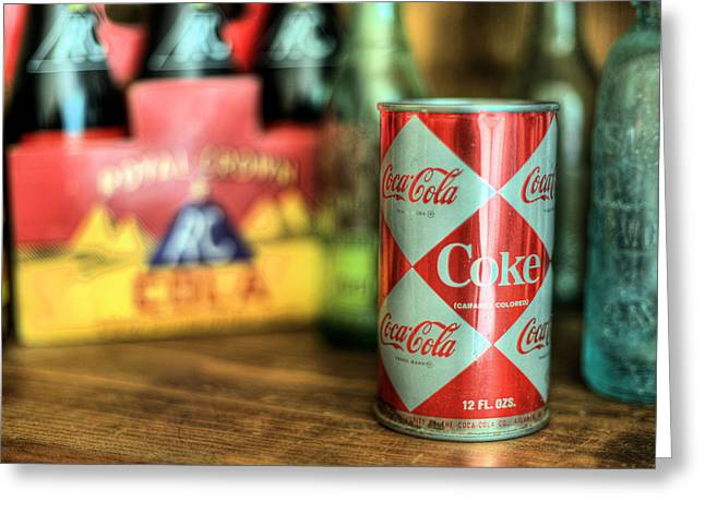 Coca Cola.coke-a-cola Greeting Cards - Back When Greeting Card by JC Findley