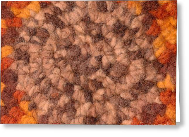 Felting Greeting Cards - Background - textile pattern Greeting Card by Kerstin Ivarsson