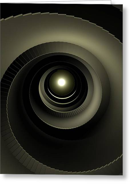 Winding Staircases Greeting Cards - Background Effect, The Stairway To Greeting Card by Ryan Briscall