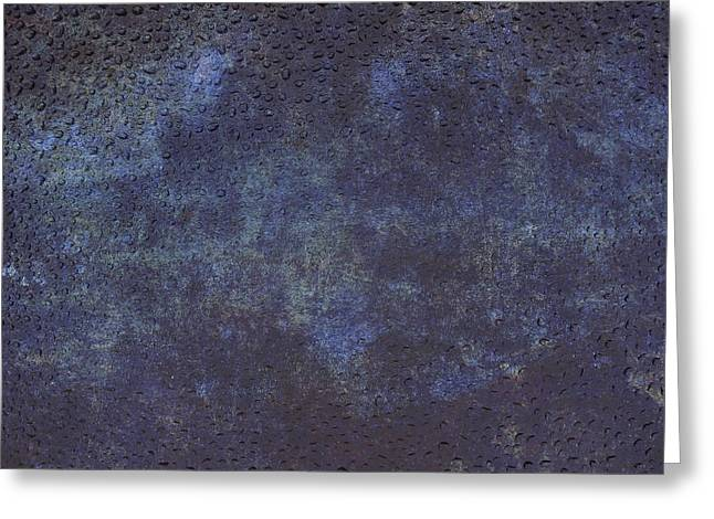 Violet Blue Greeting Cards - Background in blue with droplets Greeting Card by Patricia Hofmeester