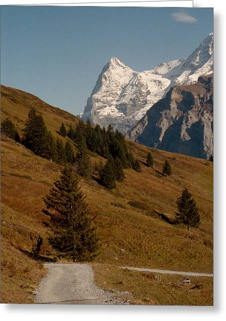 Background Mountains  Greeting Card by Marcio Faustino