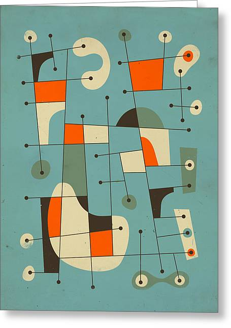Abstractions Greeting Cards - Background Music Greeting Card by Jazzberry Blue