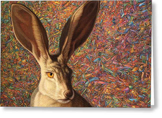 Mammal Greeting Cards - Background Noise Greeting Card by James W Johnson