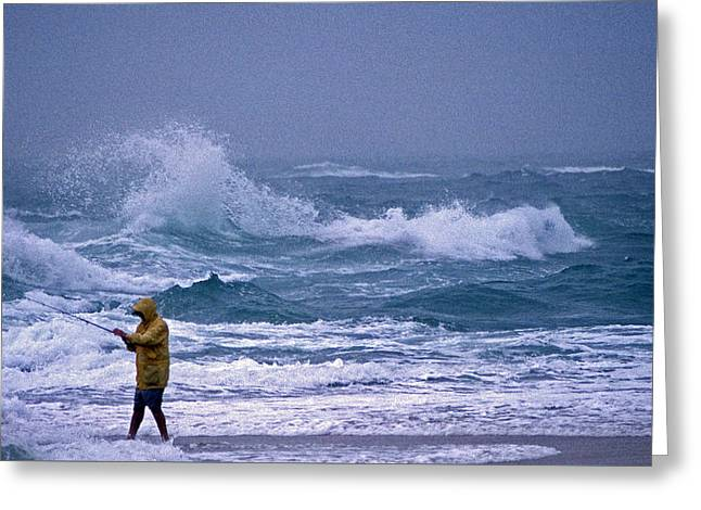 Surf Fishing Greeting Cards - Backlash Greeting Card by Skip Willits