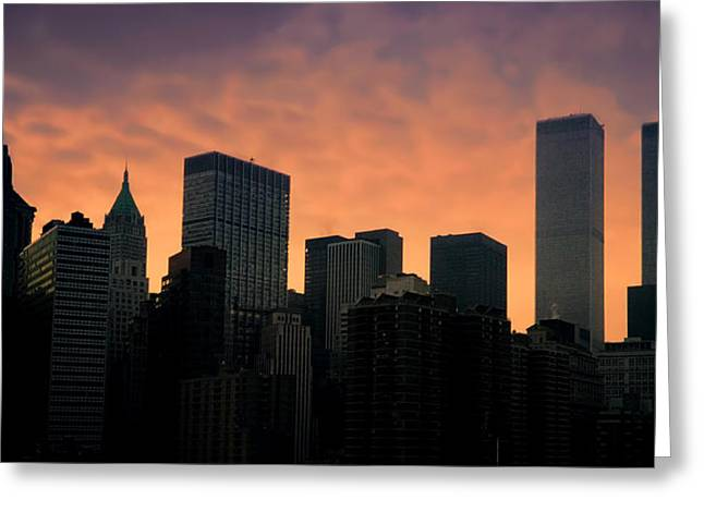 Terrorism Greeting Cards - Backlit Greeting Card by Joann Vitali