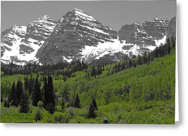 Peace And Freedom Greeting Cards - Backpacking In Aspen Colorado Greeting Card by Dan Sproul