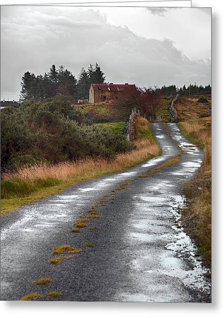 Recently Sold -  - Roadway Greeting Cards - Backroads of Ireland Greeting Card by Trever Miller