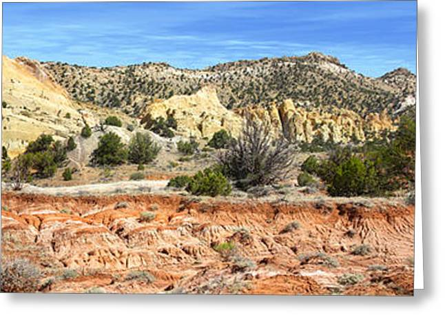 Formation Greeting Cards - Backroads Utah Panoramic Greeting Card by Mike McGlothlen
