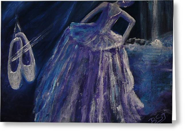 Copyright Protected. Greeting Cards - Backstage Greeting Card by Barbara St Jean