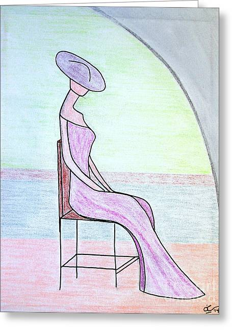 New York Pastels Greeting Cards - Backstage on Broadway Greeting Card by Bill OConnor