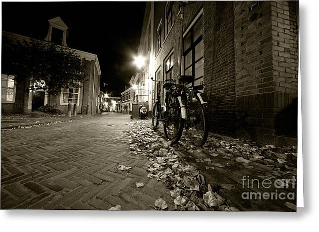 Pushbike Greeting Cards - Backstreet of Amersfoort  Greeting Card by Rob Hawkins