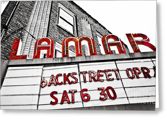 Movie Theatre Greeting Cards - Backstreet Opry Greeting Card by Scott Pellegrin