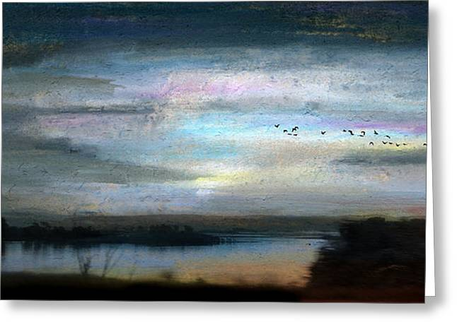 Illuminate Pastels Greeting Cards - Backwater Overflight Greeting Card by R Kyllo