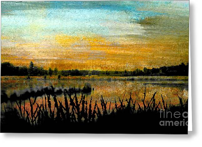 Illuminate Pastels Greeting Cards - Backwaters Greeting Card by R Kyllo