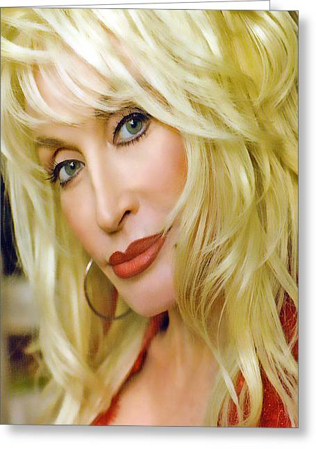 Platinum Blonde Greeting Cards - Backwoods Barbie Greeting Card by Brian Graybill
