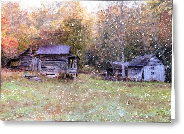 Shed Digital Art Greeting Cards - Backwoods Living Greeting Card by Mary Timman