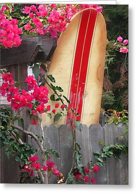Longboard Greeting Cards - Backyard Beauty Greeting Card by Ron Regalado