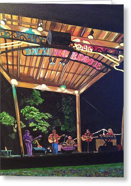 Outdoor Theater Greeting Cards - Backyard Boogie Greeting Card by Paul Neese