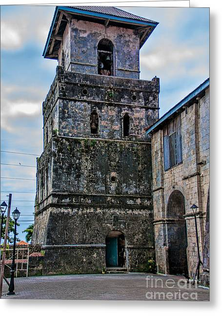 Asien Greeting Cards - Baclayon Church Greeting Card by Joerg Lingnau
